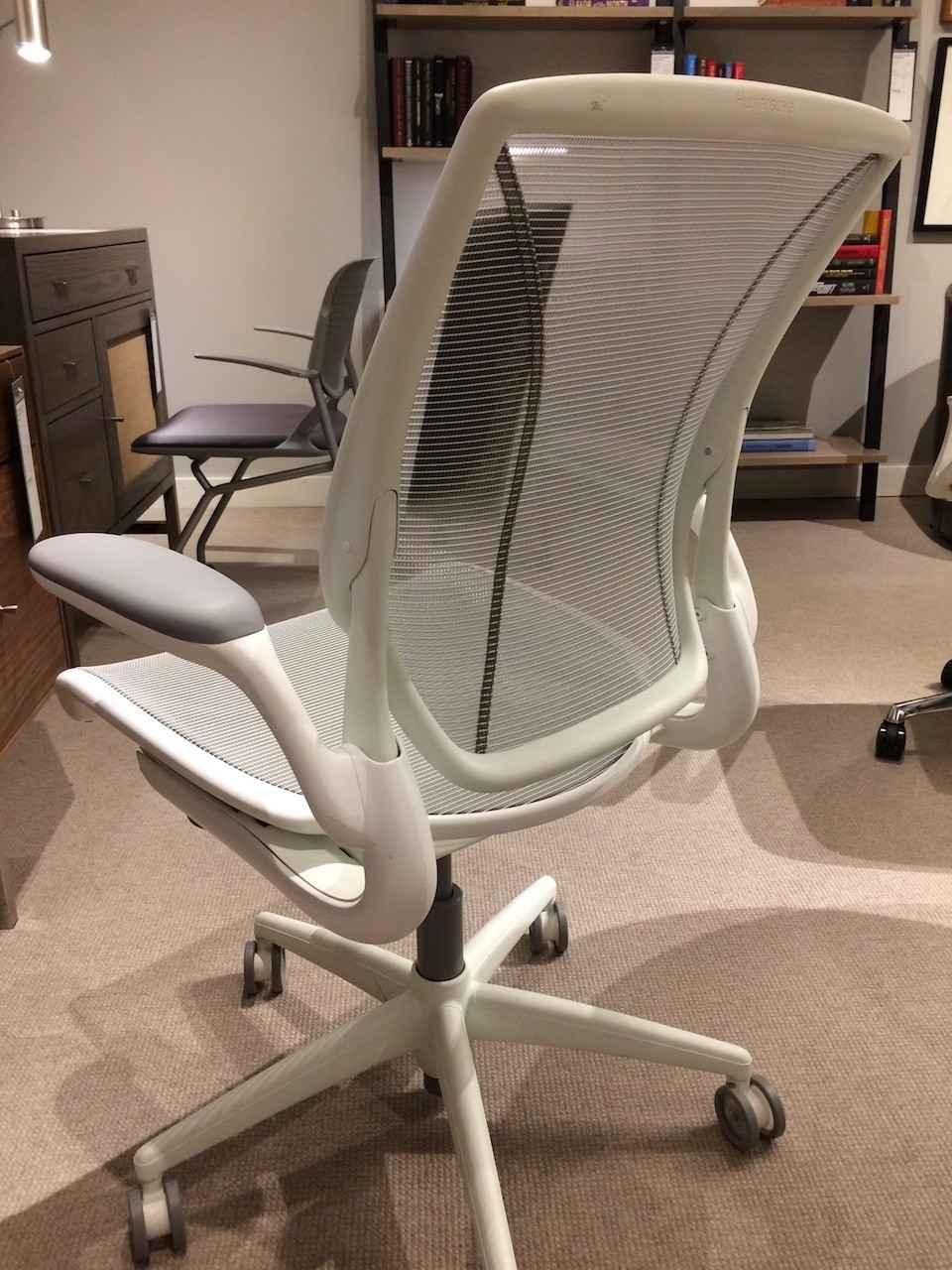Humanscale Diffrient World Chair alternate back angle view