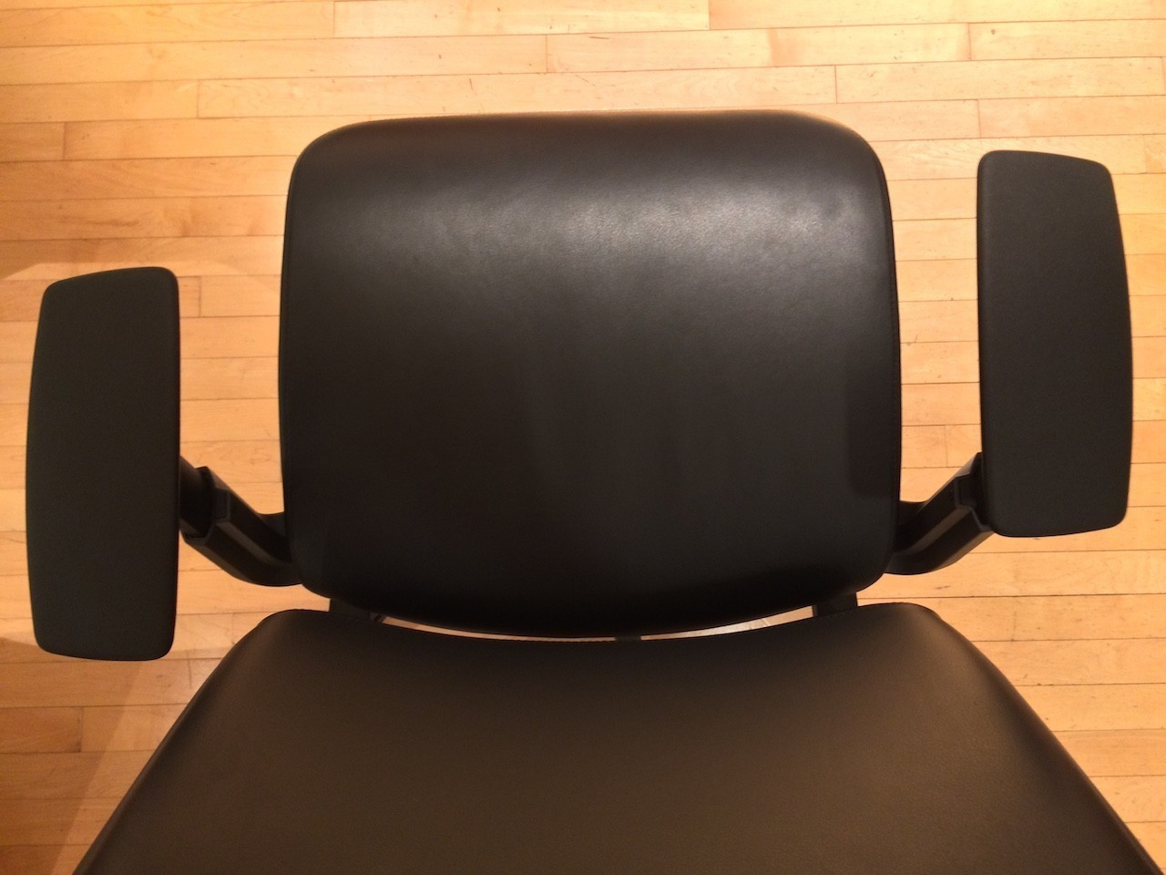Steelcase Think Chair armrest forward adjustment