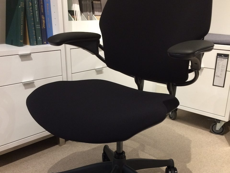 Humanscale Freedom Chair heightened armrests